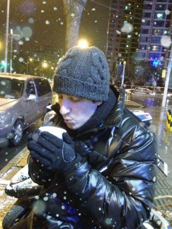 Camiel in de sneeuw
