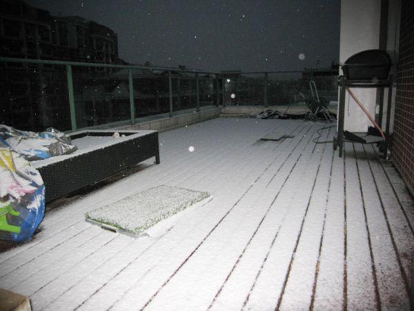 Sneeuw in Shanghai